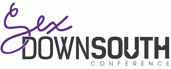 sex down south conference logo, black and purple